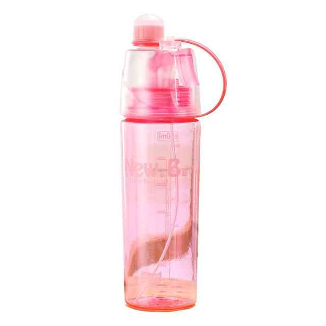 Solid Plastic Spray Cool Water Bottle - Portable Plastic Bike Bicycle Shaker