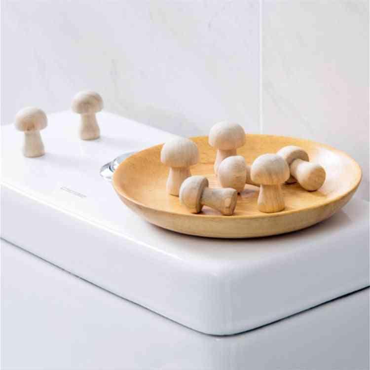 10pcs/pack Mushroom Shaped Wardrobe Camphor Wood Mothballs