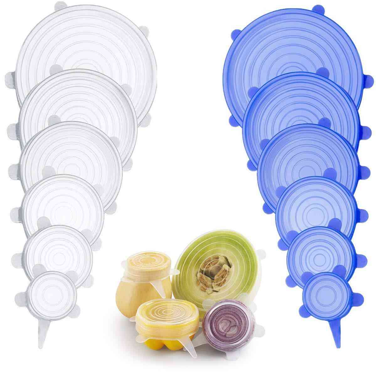 Silicone Stretch Lids Universal Silicone Food Wrap Bowl Pot Lid Silicone Cover Pan Cooking