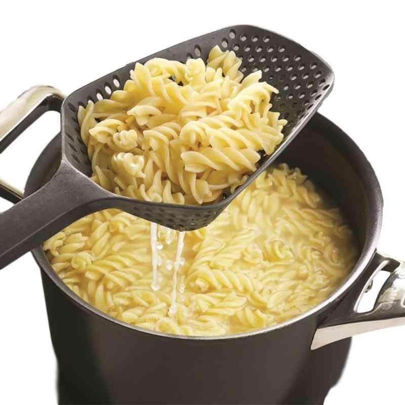 Nylon Strainer Scoop Colander - Drain Veggies Water Scoop Portable Home Cooking Tools