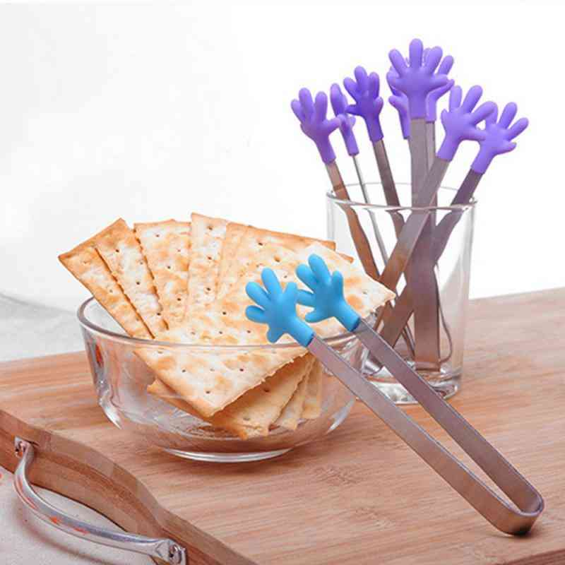 Stainless Steel Silicone Hand Food Clip - Hand Clip Cooking Kitchen Tableware