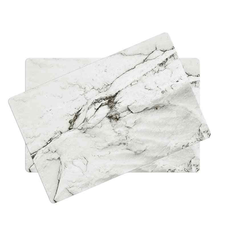 Oil Proof Non Slip High Temperature Heat Insulation Marble Stripe Design Table Mats