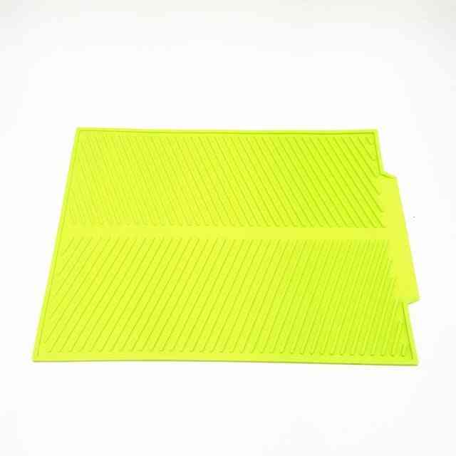 Silicone Square Dish Drying Mat, Heat Resistant Draining Tableware