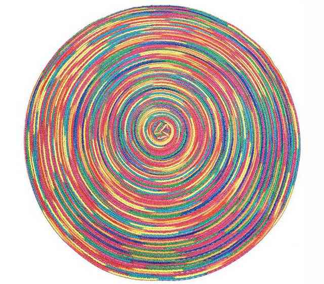 Home Decor Round Weaving Place Mat Dining Table Pad, Heat Resistant Kitchen Anti Skid