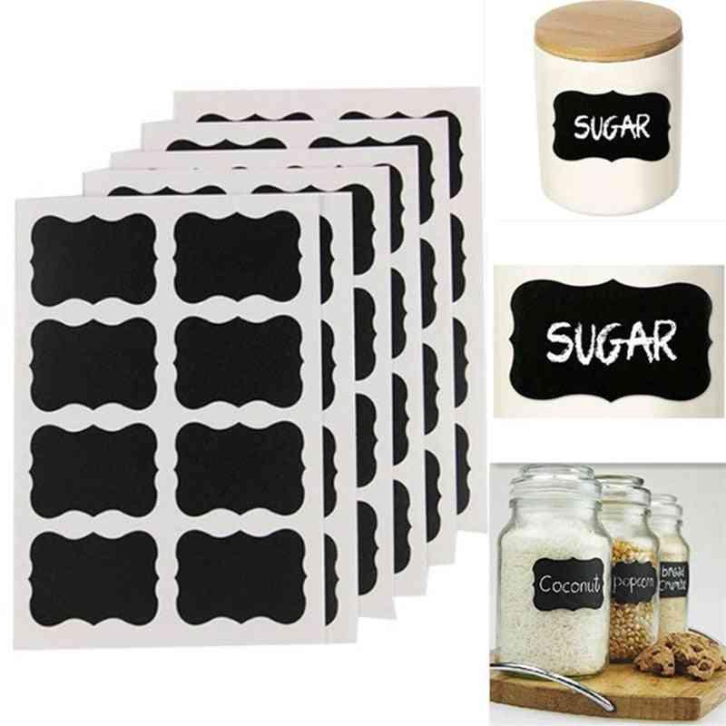 Kitchen Organization Blackboard Stickers For Jar Labels With Rewritable -white Liquid Chalk, Salt Spice