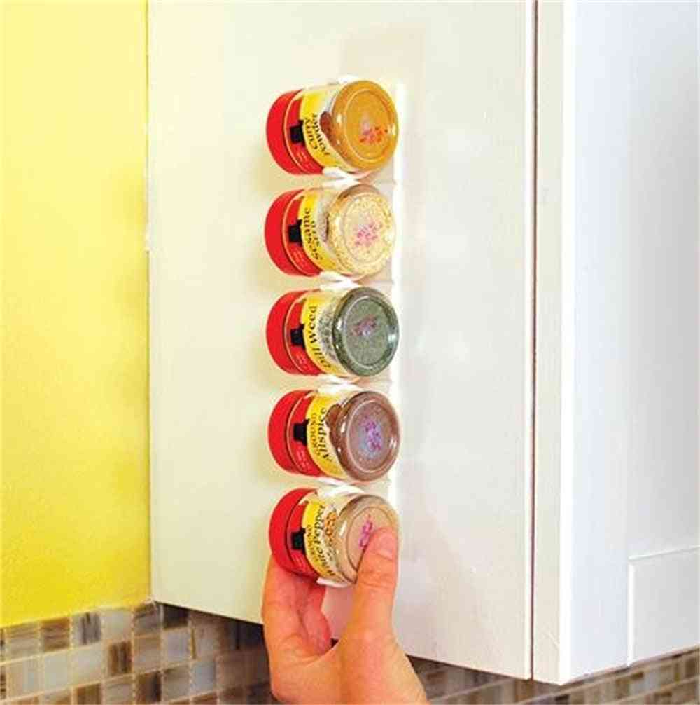 20 Cabinet Rack Gripper Clips Organizer - Strips Spice & Pepper Shakers