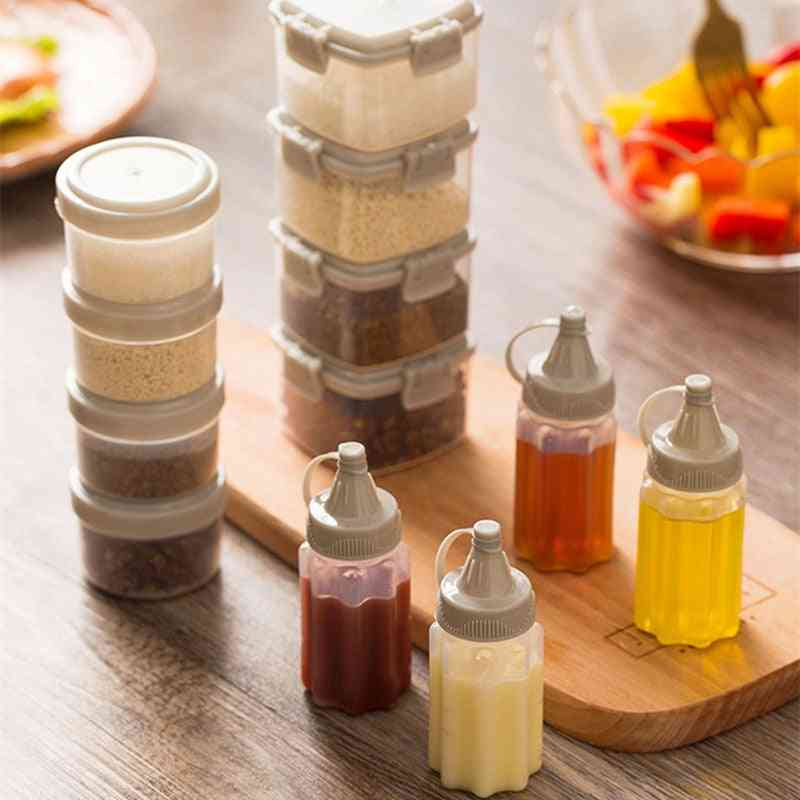 Plastic Salad Dressing Squeeze Bottle - Condiment Dispenser