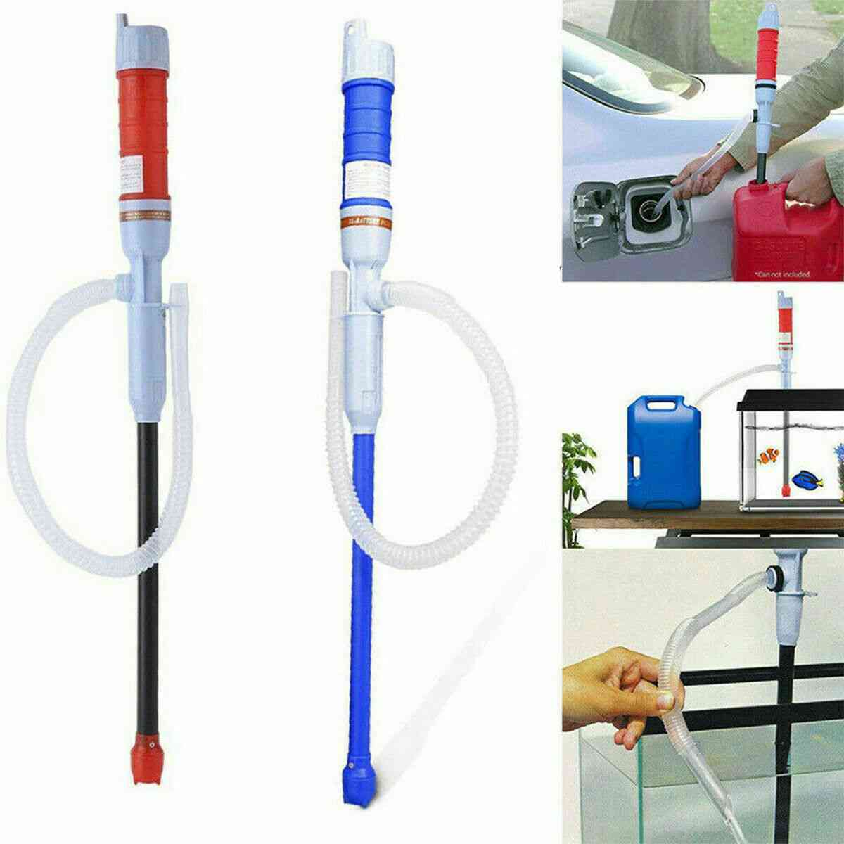 Handheld Liquid Fuel Syphon Pump - Automatic Transfer Gas, Oil, Water