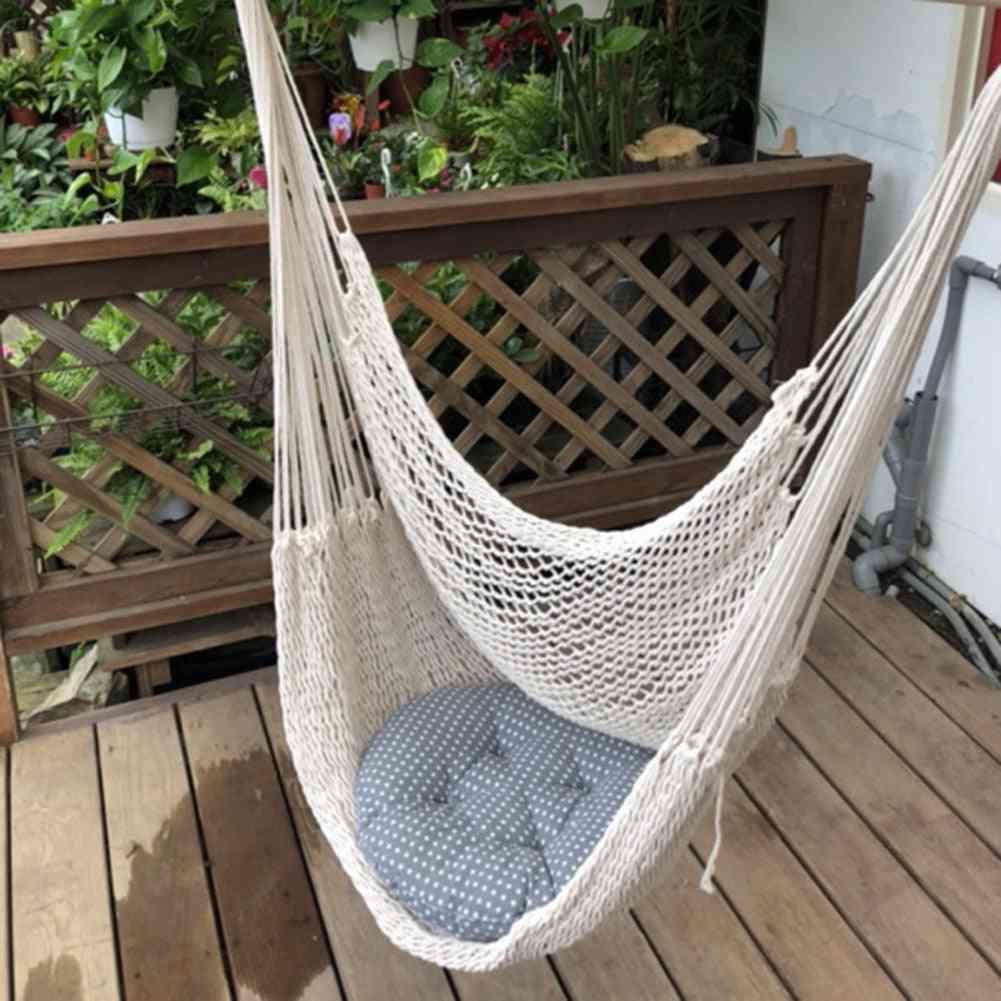 Hanging Hammock Chair - Wall Hang Swing Rope For Outdoor, Indoor, Garden