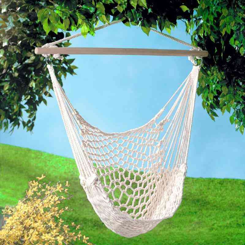 Portable Travel Camping Hanging Hammock - Home Bedroom Swing Bed, Lazy Chair For Garden Without Stick