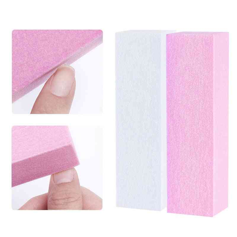 White Nail Buffers Sanding Block Buffing, Grinding Polishing Block Nail File Pedicure
