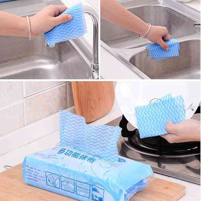 Environmental One-time Non-woven Clean Cloth, Microfiber Kitchen Cleaning Towel