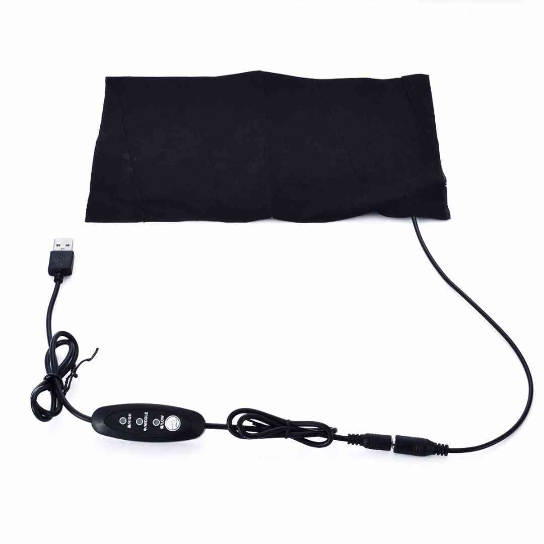 Portable Usb Electric Heating Pad - 3 Gear Adjusted Temperature - Thermal Vest Jacket Clothing Heated Pads Warmer