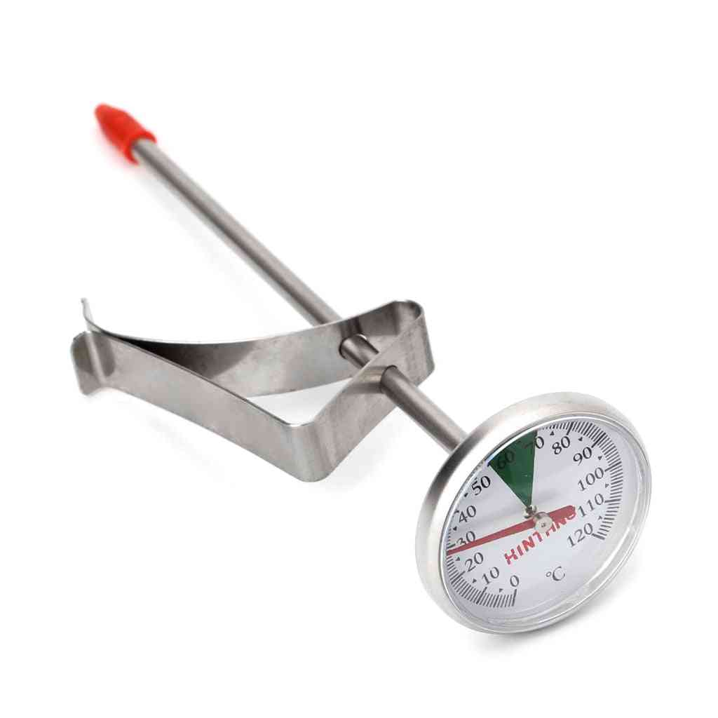 Portable Stainless Steel Thermometer - Kitchen Food Cooking Milk, Coffee, Probe