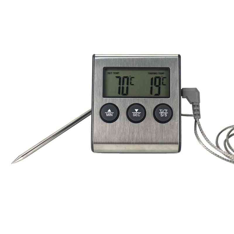 Digital Bbq Cooking Oven Thermometer - Food Timer Temperature Meter For Grill