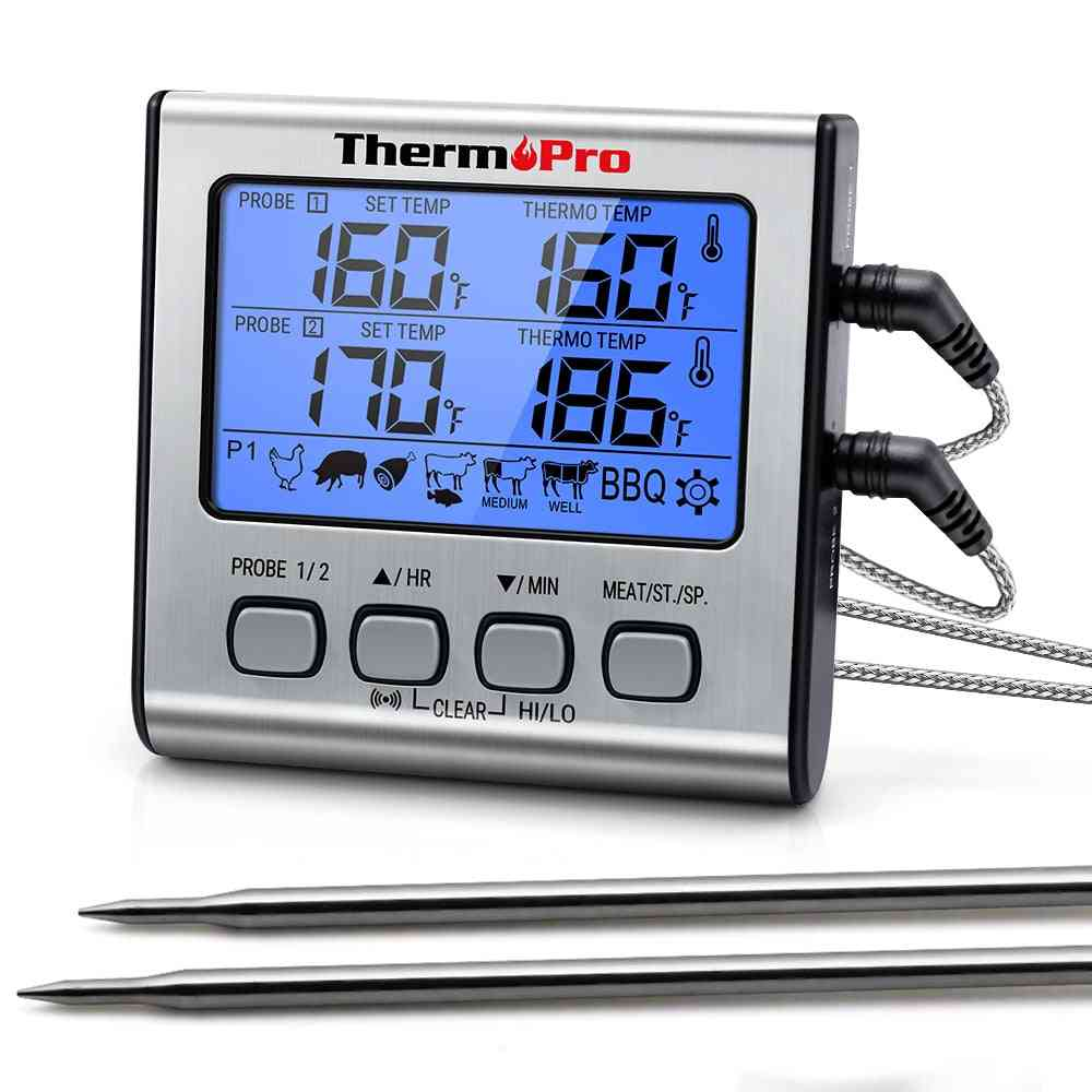Digital Kitchen Thermometer For Oven, Meat With Timer