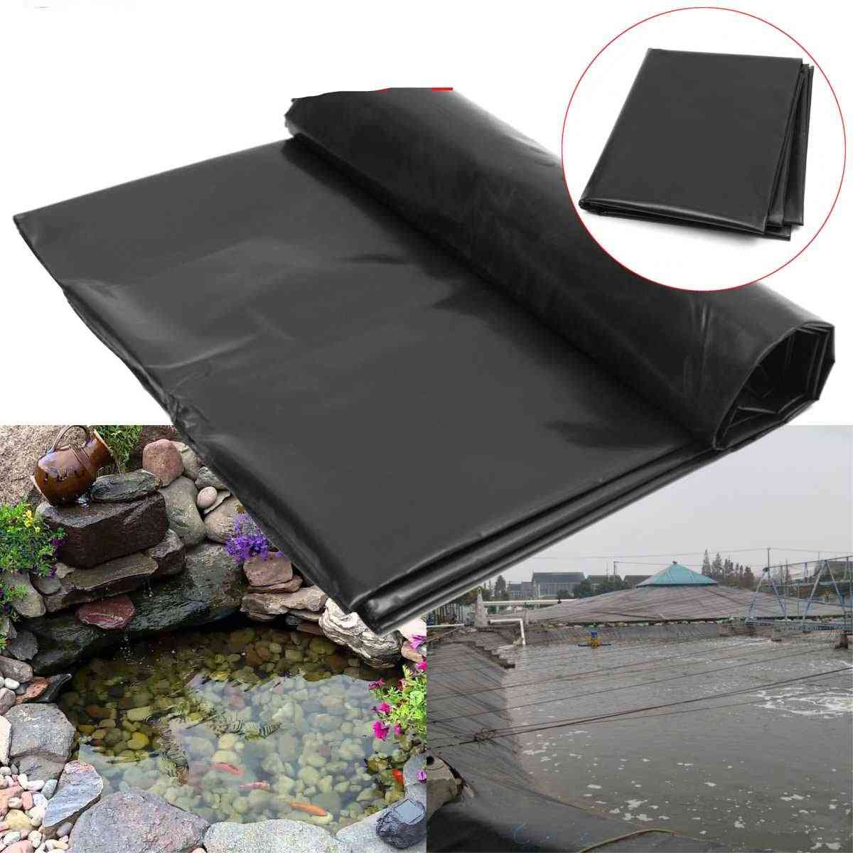 Black Fish Pond Liner, Heavy Landscaping Pool Pond Waterproof Liner Cloth