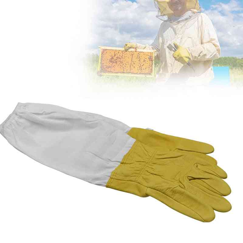Protective Sleeves Ventilated Apiculture Beekeeping Gloves