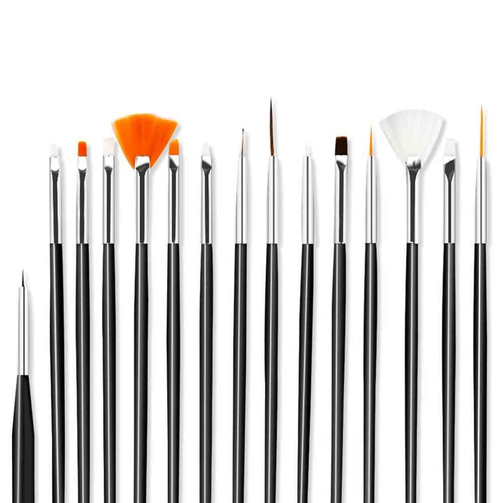 Nail Art Set For Manicure- Gel Acrylic Brushes