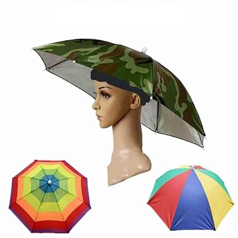 Digital Camo Fishing Hiking Cap Umbrella - Parasol