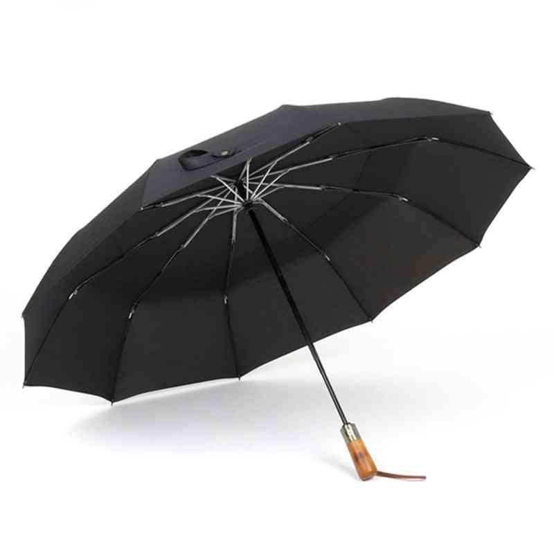 Automatic Umbrella Rain Double Layer Windproof Large Golf
