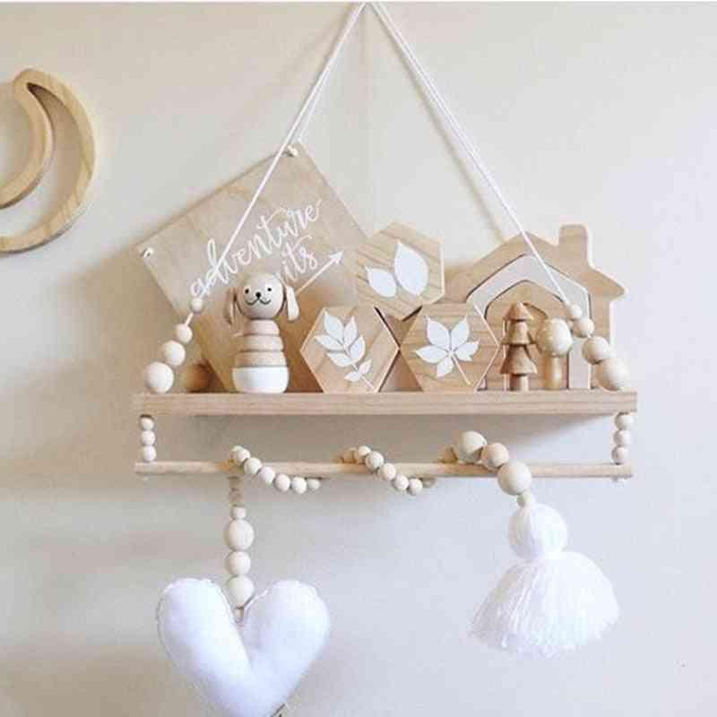 Wooden Bead Hanging Pendant Tassel