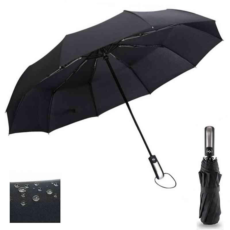 Wind Resistant Three Folding - Automatic Umbrella