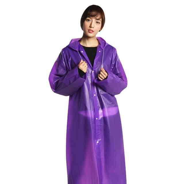 Raincoat Thickened Waterproof - Adult Clear  Hoodie Rainwear