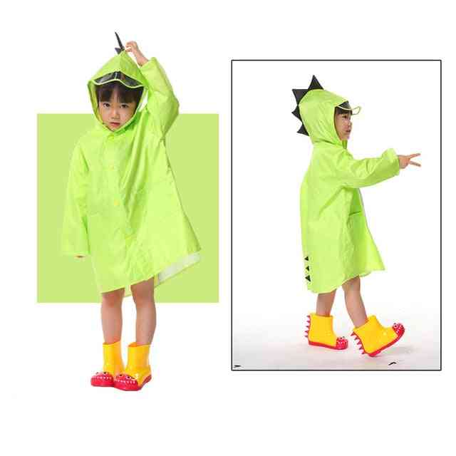 Cute Dinosaur Polyester Baby Raincoat