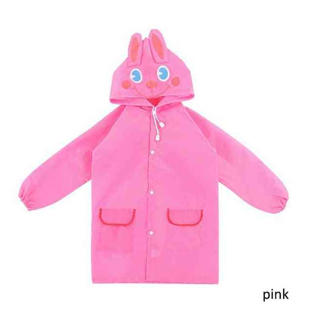 Cartoon Animal Style Waterproof Kids Raincoat - Rain Suit For Student