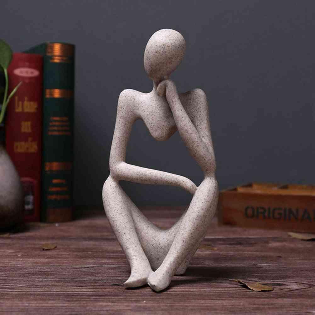 European Style Abstract Thinker Statue Sculpture Figurine