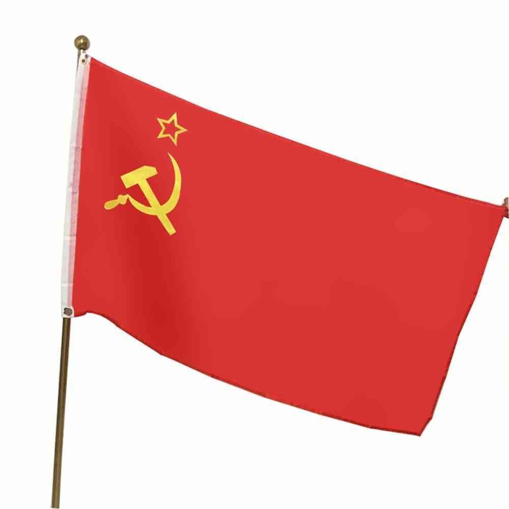 150*90cm Red Soviet Socialist Republics Ussr Flag