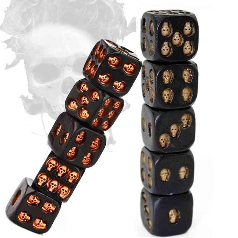 Skull Dice Statue - Halloween Board Game Dice