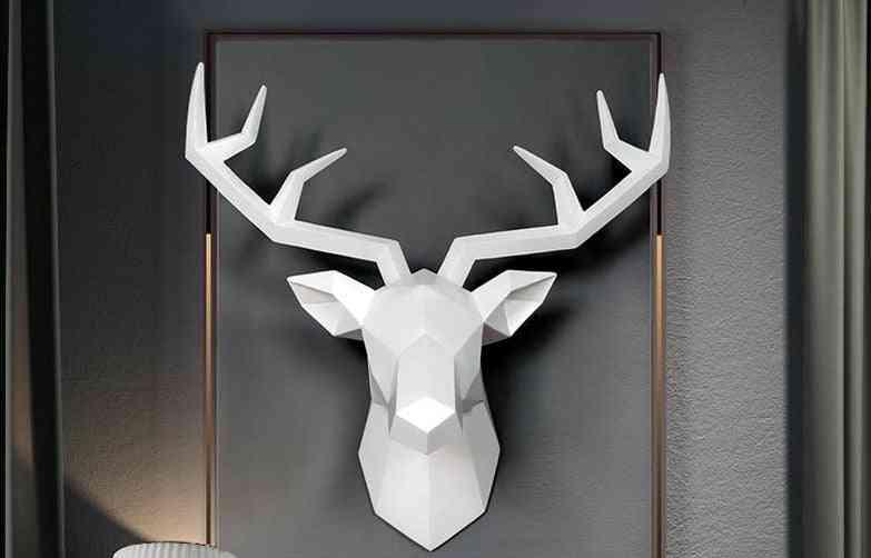 Deer Hanging Statue - Elk Abstract Sculpture