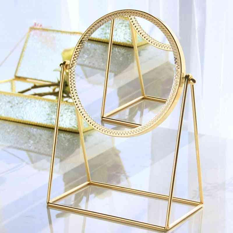 Creative Metal Desktop Makeup Round Mirror