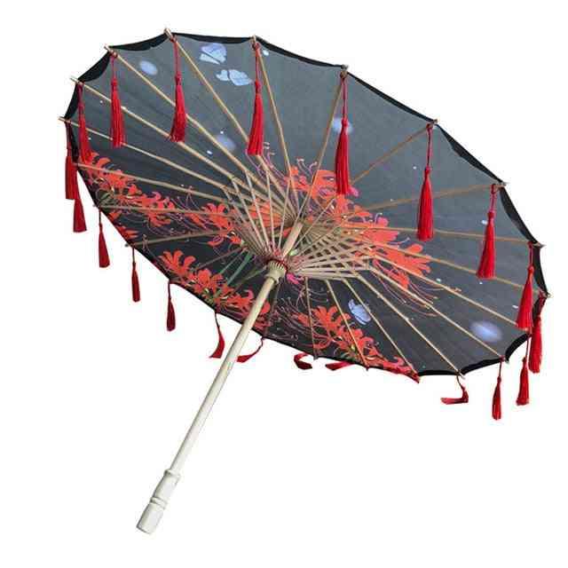 Props Tasseled Umbrella, Oil Paper Parasol
