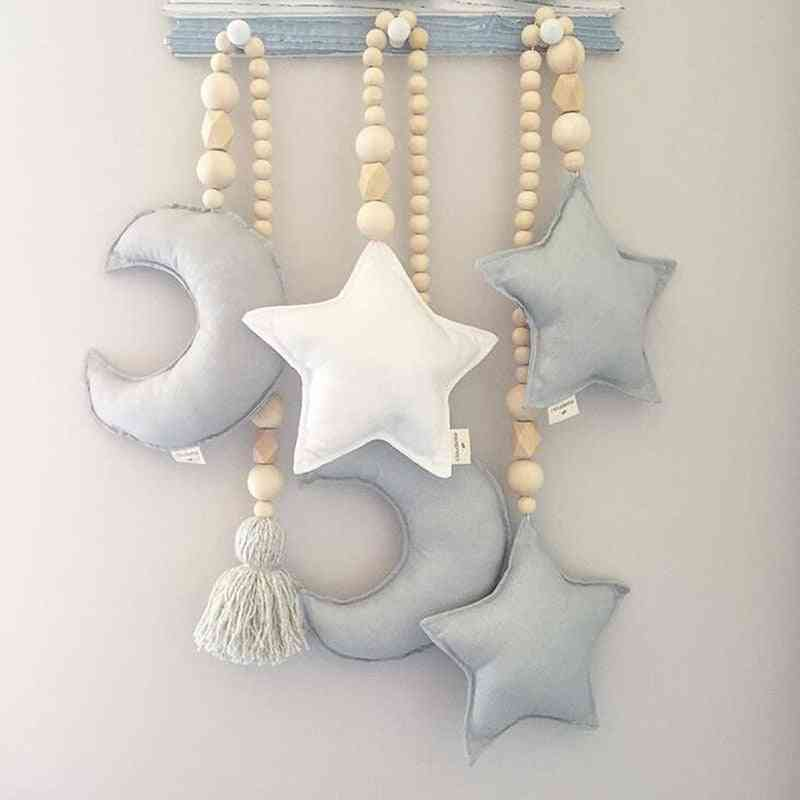 Baby Crib Tent Hanging Pendant - Nordic Wooden Beads Ornament