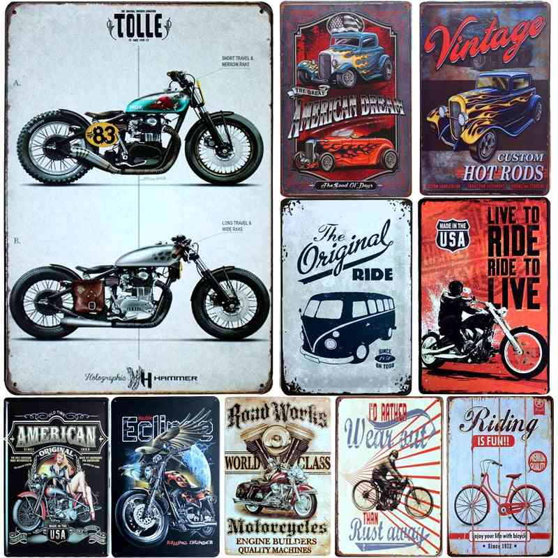 Vintage License Plate Metal Signs