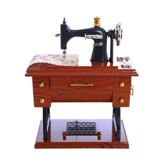 Mini Sewing Machine Style Vintage Music Box