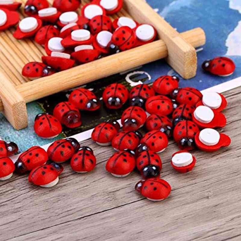 Mini Cabochon Ladybug Fairy Garden Miniatures