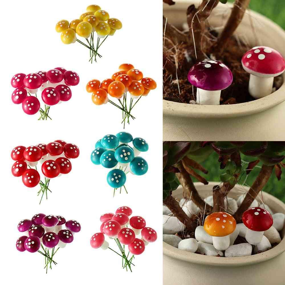 Artificial Foam Potted Plants Mini Mushroom Miniature - Diy Garden Home Craft Ornament