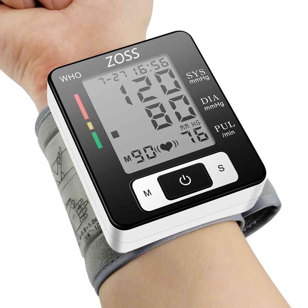 English Or Russian Voice Cuff Wrist Blood Presure Meter Monitor-heart Rate Pulse Portable Bp