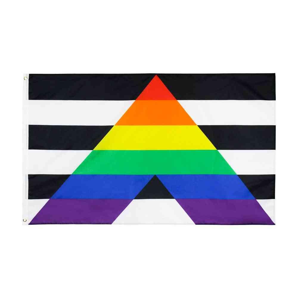 Lgbt Rainbow Pride Gay Straight Ally Flag