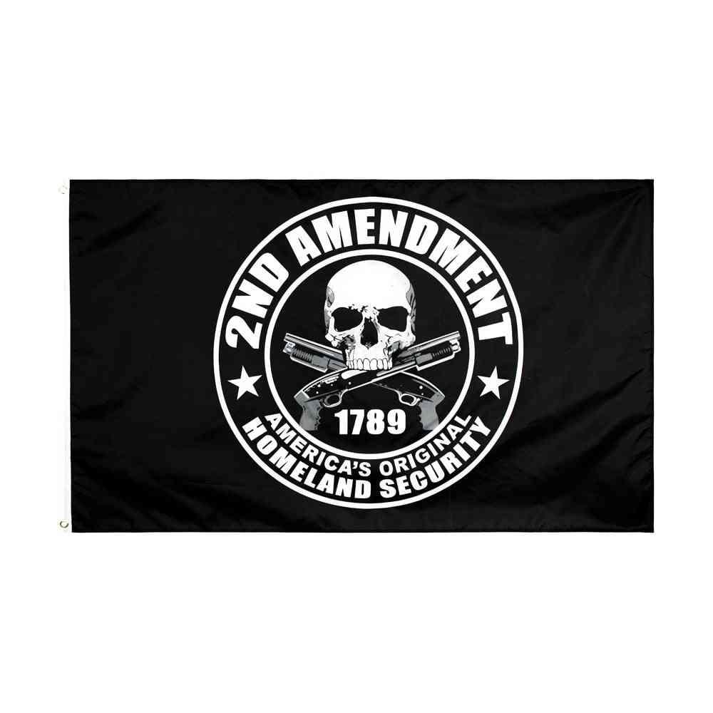 2nd Amendment Gun 1789 Skull Flag