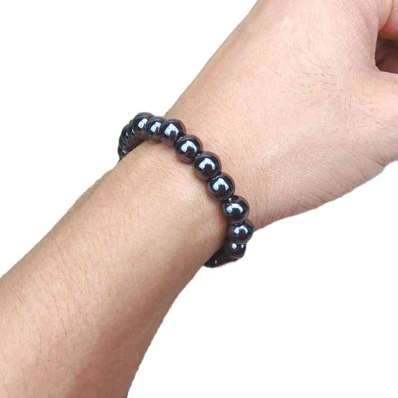 Luxury Slimming Bracelet- Weight Loss Round Black Stone Magnetic Therapy Health Care