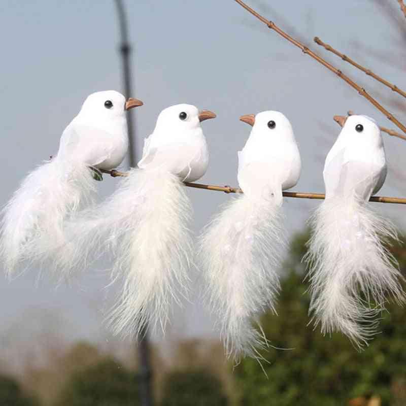 Artificial Foam White Dove,  Feather Decorative Ornament