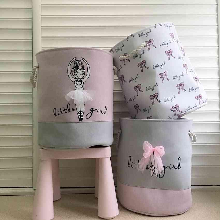 Barrel Clothing Folding Large Storage Laundry Basket For Dirty Clothes Washing Organization