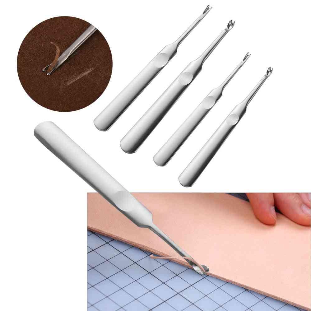 U+v Shaped Leather Stitching Skiving Tool - Leathercraft Hole Puncher Tool Kit