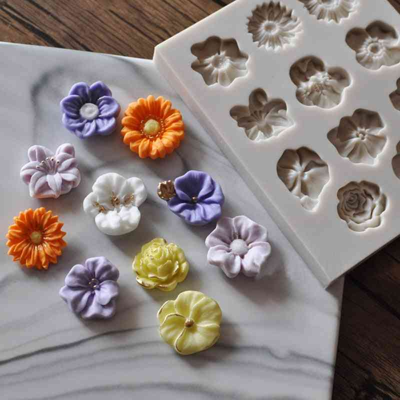 Food Grade Silicone Flowers Shape Fondant Mold - Cake Border Diy Decoration Mold