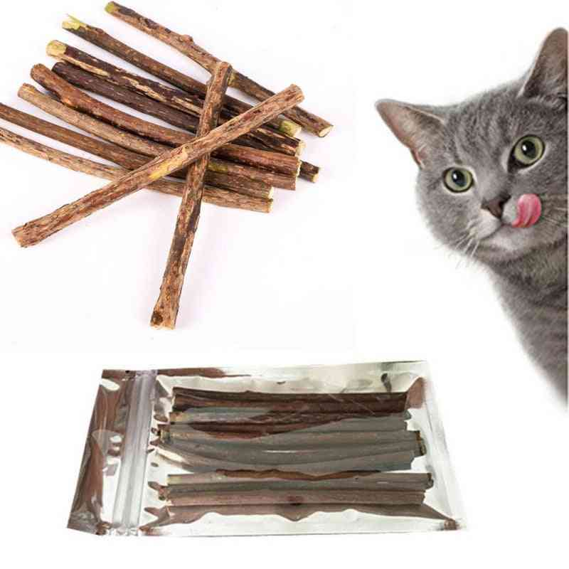 Pure Natural Catnip Toy Molar Toothpaste Branch Cleaning Teeth Sticks For Pet